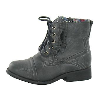 Cutie Childrens Girls Flat Lace Up Boots