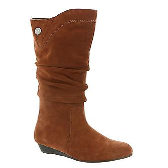ARRAY Womens Dixie Leather Almond Toe Knee High Fashion Boots