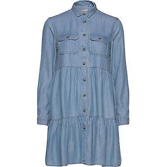 スーパードライ ティアード シャツ ドレス ライトブルー 36