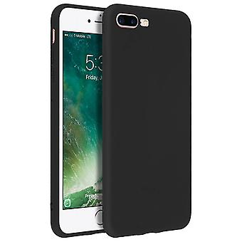 Forcell case for iPhone 7 Plus, 8 Plus, soft touch cover, silicone case – Black