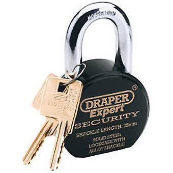 Draper 64206 Expert 63mm Heavy Duty Stainless Steel Padlock And 2 Keys
