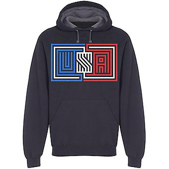 Word Usa, Banner Hoodie Men's -Image by Shutterstock