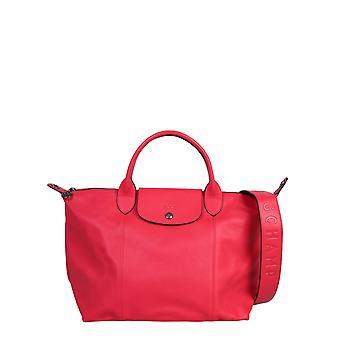 Longchamp 1515757545 Women's Red Leather Shoulder Bag