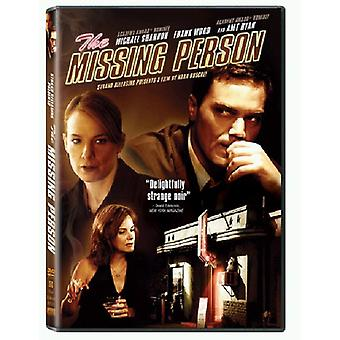 The Missing Person [DVD] USA import