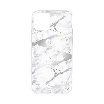 Case Voor iPhone 11 Soft Grey Marble Effect