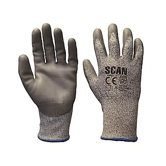 Scan Grey PU Coated, Cut 5 Liner Gloves - Large SCAGLOCUT5