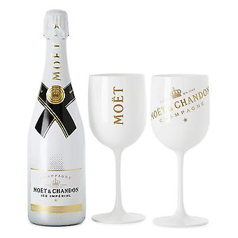 1 Pc Plastic Vin Party Hvid Champagne Moet Glas