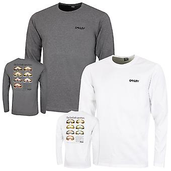 Oakley Mens Heritage Eyeshade LS Cotton Crew T-Shirt