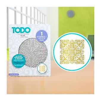 TODO Hot Foil Press All Over Snowflake & Foliage
