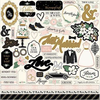 Echo Park Wedding Day 12x12 Inch Element Sticker