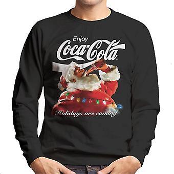Coca Cola Urlaub kommen Lichter Männer's Sweatshirt