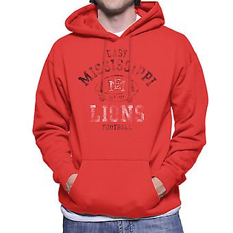 East Mississippi Community College Football Lions Men's Hooded Sweatshirt