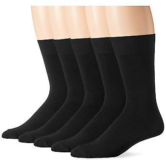 Essentials Men's 5-Pack Solid Dress Socks, Zwart, Schoenmaat: 13-15