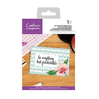 Crafter's Companion Anything but Predictable Clear Stamps