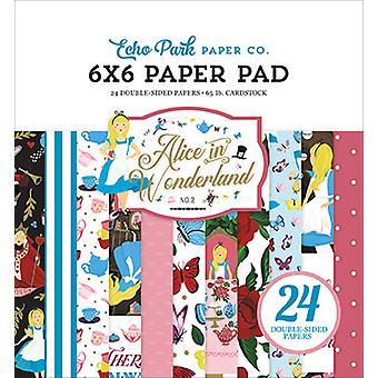 Echo Park Alicja w Krainie Czarów nr 2 Cal 6x6 Paper Pad