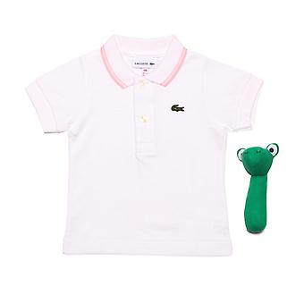 Boy's Lacoste Baby Polo Shirt Gift Set in White