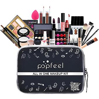 Make Up Set Cosmetics Kit(eyeshadow Lipstickeyebrowbb Creamface Powderconcealerpolish Nail) 30 Pcs In 1 Set