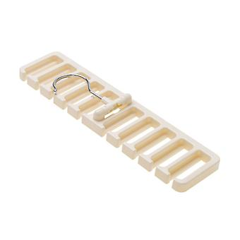 Belt plastic storage rack Beige 30.5x7.3x1.4cm