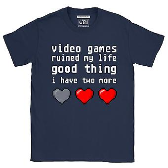 Funny gamer t shirt video games ruined my life novelty gifts for gamers