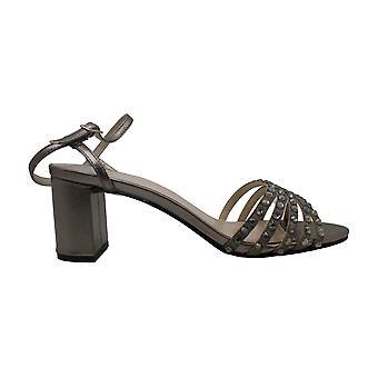 Caparros Womens mushroom Fabric Open Toe Ankle Strap Platform Pumps