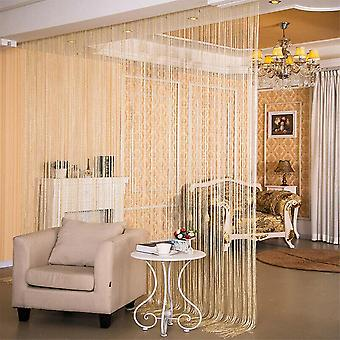 Stylish Glitter String Door Curtain Room Dividers - Beaded Fly Screen Fringe Window Panel