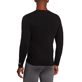 Duofold Men's Heavy Weight Double Layer Thermal Shirt, Black, Large