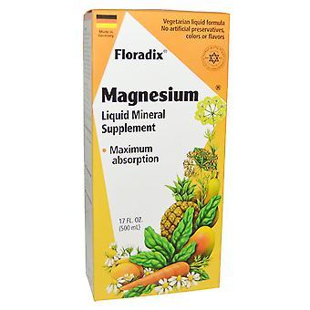 Flore, Floradix, Magnésium, Supplément minéral liquide, 17 fl oz (500 ml)