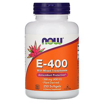 Now Foods, E-400 with Mixed Tocopherols, 268 mg (400 IU), 250 Softgels