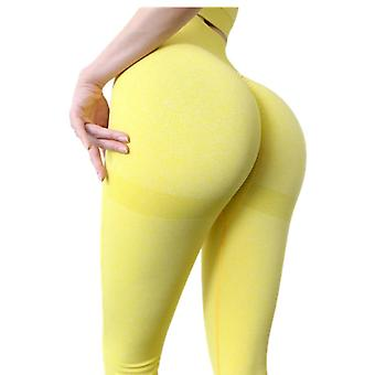 Women High Waist Push Up Compression Tights Sports Running Gym Stretchy Pants