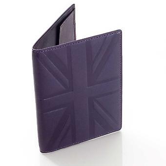 Plum Britannia leather passport holder