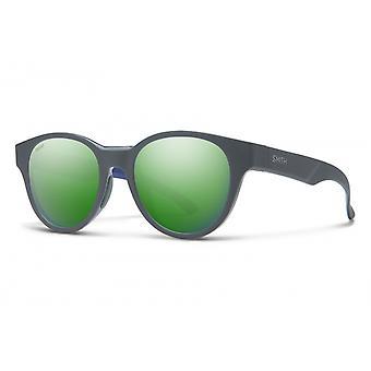 Zonnebril Unisex Snare mat grijs/ groen
