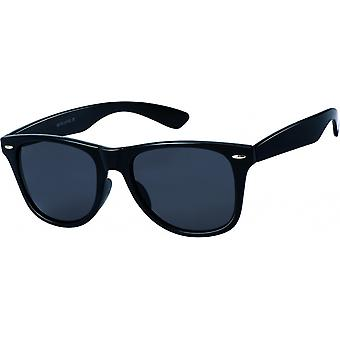 Gafas de sol Unisex Wayfarer gris/negro grande (20-186)