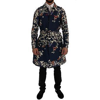 Dolce & Gabbana Blå Fugl Bomull Trench Coat SIG60310-4