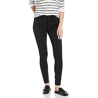 Brand - Goodthreads Women's Sateen 5-Pocket Skinny, Black 14