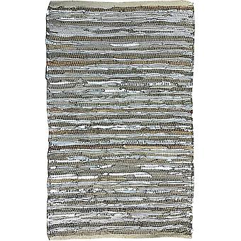 Spura Home Carpet Handmade Leather Striped Area Rug 2x3 para quarto quarto