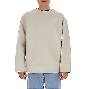 Y-3 Gk4501ecru Männer's weiße Baumwolle Sweatshirt