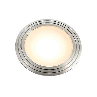 Integrated LED 1 Light Outdoor Recessed Light Marine Grade Brushed Stainless Steel, Frosted IP67