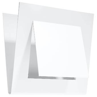 1 Luz decorativa Flush pared blanca, G9