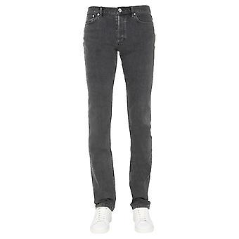 A.p.c. Cozztm09002laa Men's Grey Cotton Jeans