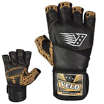 VELO GD1 Leather Weight Lifting Gloves