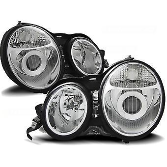 Mercedes W210 E-klass 95-05 99 KROM HEADlights