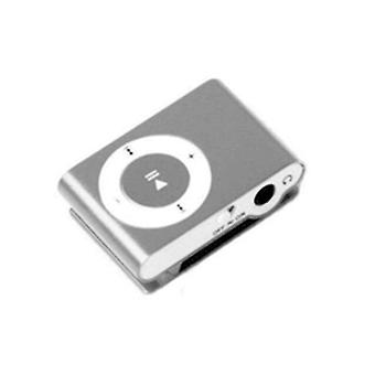 1pcs Mini Portable Usb Mp3 Player  Waterproof Sport Compact From Metal  With Tf Card Slot