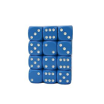 Chessex Opaque 12mm D6 Block - Light Blue/white
