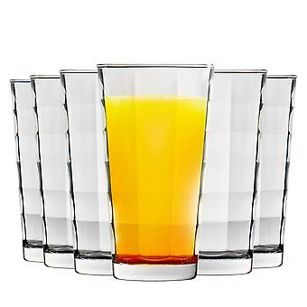 Bormioli Rocco Cube Highball Cocktail Glasses Set - 365ml - Pack de 6