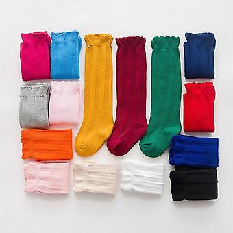 Spring Autumn Winter Cotton Lace Double Needle Socks For Children
