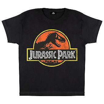 Jurassic Park Classic Distressed Logo Boys T-Shirt | Official Merchandise