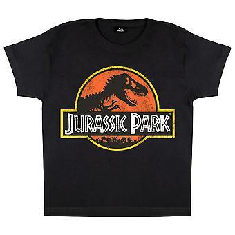 Jurassic Park Classic Distressed Logo Gutter T-skjorte | Offisielle varer