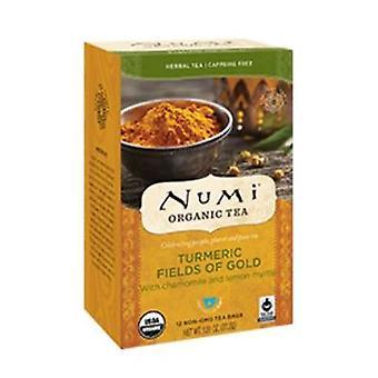 Numi Tea kurkuma Tea, Mezők Arany 12 táskák