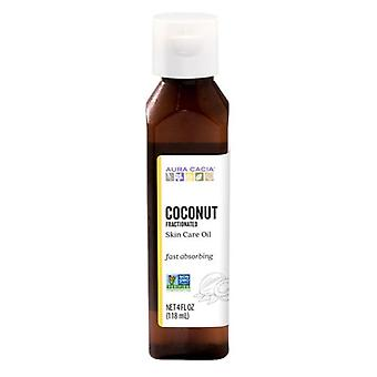 Aura Cacia Coconut Fractioned Body Oil, 4Oz