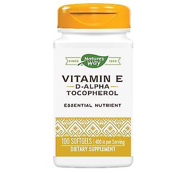 טבע &s דרך ויטמין E, D-ALPHA SOFTGEL, 100 כמוסה